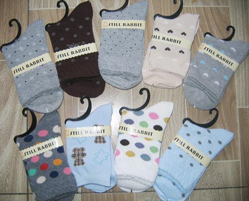 Dames sokken katoen womens sok been warmer kousen gemengd / # 3485