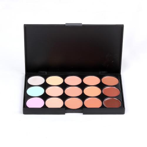 Professionele Mode 15 Kleuren Stichting Concealer Camouflage Makeup Concealer Palatte 3 / Pakket Concealer Net: 0.116kg