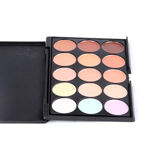 프로페셔널 패션 15 색 파운데이션 컨실러 위장 메이크업 컨실러 팔레트 3 / 패킷 컨실러 넷 : 0.116kg