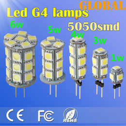 Wholesale 27 Smd Led - 15 Piece Cool Warm White G4 LED light bulbs 5050 SMD 1W 3W 4W 5W 6W 340LM 27 LEDs chandelier LED lamp indoor lighting Car LED Bulb DC 12V