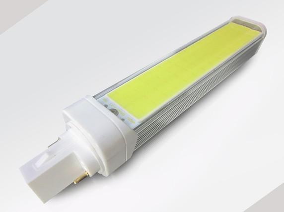7W led COB PL lamp 360 degree rotation 7W G24 2pin 4 pin G23 E27 led PL lights LED Corn Bulb PL AC85-265v