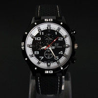 Wholesale Led Car Watch - 2pcs lot Men GRAND TOURING Sports watch LED Watch Gift Sports Car Meter Dial Fashion Watches Dropship WCW20