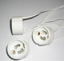 Douille d'ampoules en plastique en Ligne-10pc beaucoup GU10 LED lumière titulaire de la lampe ampoule bases prise adaptateur adaptateur convertisseur en plastique livraison gratuite