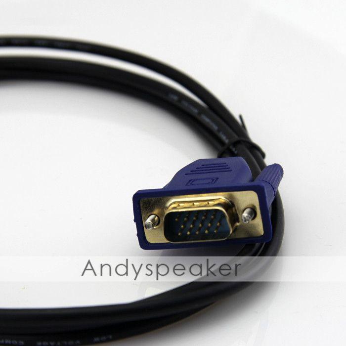 Cavo HDMI convertitore VGA adattatore maschio 1.8M = 6ft D-SUB 15 pin Cavo adattatore video AV HDTV set-top cavo