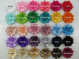 Wholesale Diy Flower Hair Band - DIY Baby hair bands Hair bows Hair clips fabric flowers,Satin Ribbon Flower,children's fashion Hair accessories 30 Colors-1000pcs HH004