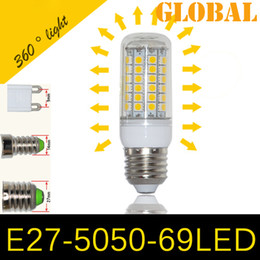 Wholesale Candle Corn E14 - Cheap 5050 SMD 69 LEDs Corn Bulb E27 E26 E14 GU10 G9 chandelier Candle LED Light 15W With Cover 360 degree Maize Lamp Cool Warm White