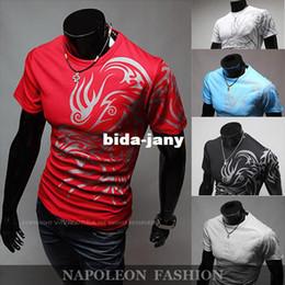 $enCountryForm.capitalKeyWord NZ - Wholesale-Size M-XXXL Freeshipping Hot Saling,2014 Fashion Brand T Shirts For Men Novelty Dragon Printing Tatoo Male O Neck T Shirt Brands