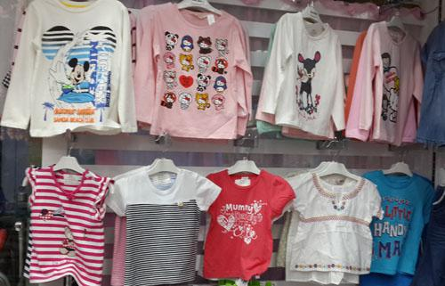 Meisjes lange mouw tops peuter t-shirts top shirts shirt gemengde 20 stks / partij # 3494