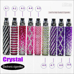 Wholesale Ego Batteries Crystal - eGo t Bling battery diamond Battery crystal 2014 hot cheap Electronic Battery 650mah 900 1100mah e Cigarette Ego Diamond battery for ce4 ce5