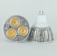 led élèvent des ampoules blanches achat en gros de-CHAUD vente GU10 / E27 / MR16 / B22 CREE 9W 3x3W Remplacer 50W haute puissance CREE Light LED ampoule lampe Downlight de cardmate shop