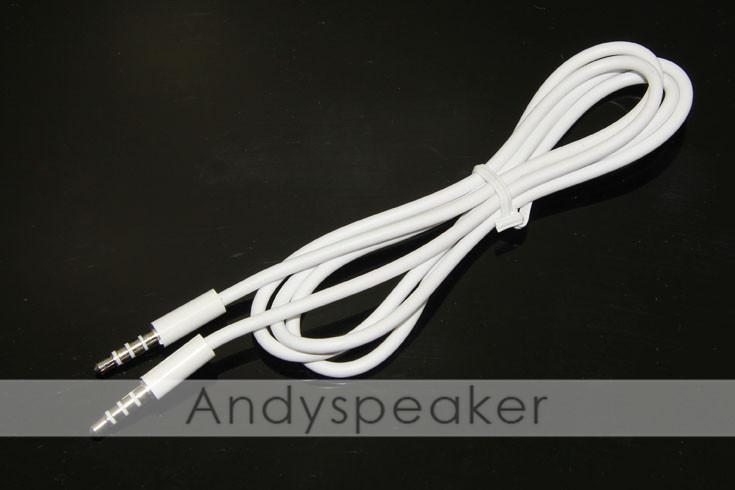 3.5mm AUX Stereo Car audio cables male to male Extension audio Cable for MP3 for iPhone For cellphone white DHL free