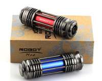 Wholesale V Cig Rechargeable - Robot V E Cig Mechanical Mod with 18650 Battery Screwless Rechargeable E Cgarette for Kayfun Ithka Aqua eGo Atomizer
