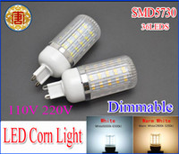 Wholesale E14 11w - 11W 36 leds SMD 5730 LED Corn Light Bulb Dimmable LED Lamp E27 E14 G9 1020LM Warm White or White lighting 110V 220V 360 degree corn bulbs