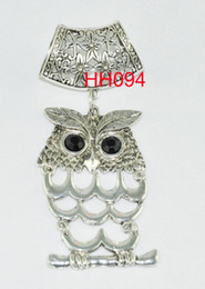 vrai hibou Promotion Wishcart Real Sale Flowers Wholesale-12pcs / lot Pendentif Pendentif Diy Charms Set for Jewelry Necklace Findings 2015 Livraison gratuite Hh094