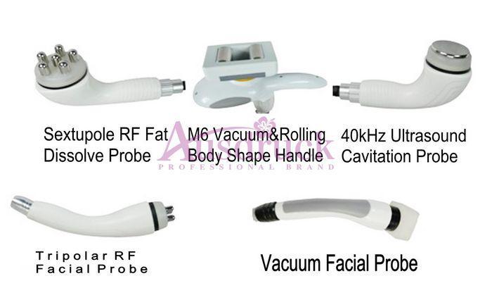 Rodillo profesional Tripolar Radio Frecuencia Vacuum RF para Cuerpo Cara Cavitación Ultrasónica Liposucción Pérdida de peso Máquina de belleza