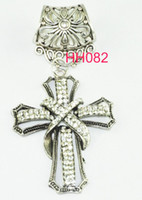 Wholesale Cross Charm Scarves - WISHCART Fashion 12pcs lot 2016 Sliver Cross Pendant Diy Charms Set for Scarf Jewelry Necklace Findings free Shipping Hh082