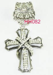 Wholesale Scarf Charm Necklaces - WISHCART Fashion 12pcs lot 2016 Sliver Cross Pendant Diy Charms Set for Scarf Jewelry Necklace Findings free Shipping Hh082