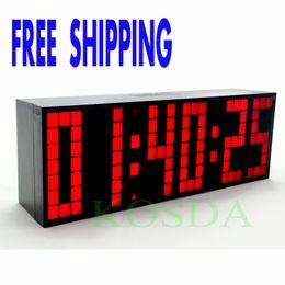 $enCountryForm.capitalKeyWord Canada - Remote Control Countdown Timer Colorful Led Alarm Clock Big Font Digital Snooze Clock Classical Design Durable Stopwatch