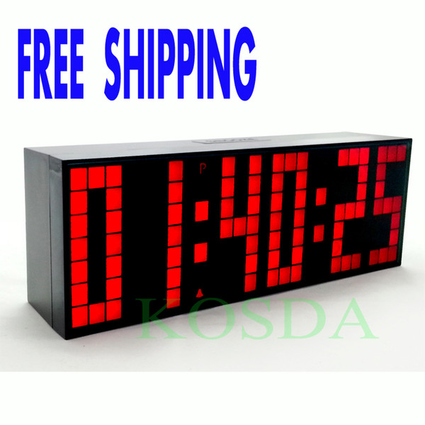 top popular Remote Control Countdown Timer Colorful Led Alarm Clock Big Font Digital Snooze Clock Classical Design Durable Stopwatch 2019