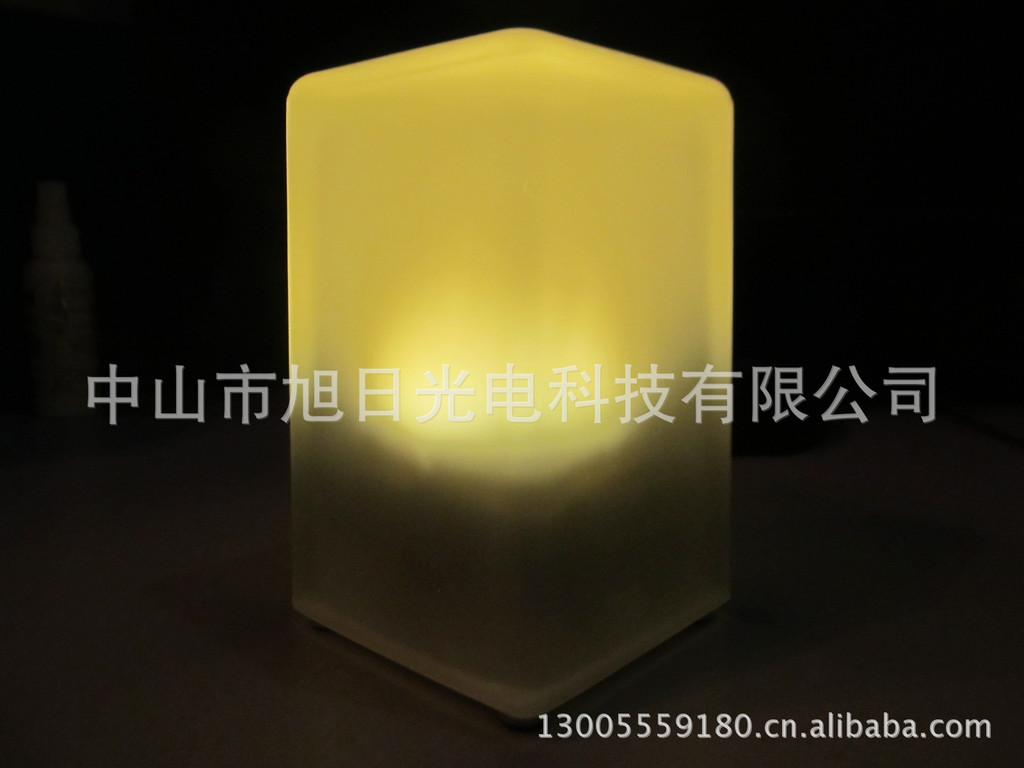 LED Rechargeable Table Lamp Square Glass Table Lamp Bar Bar Candlestick  Lamps Upscale Hotel Supplies