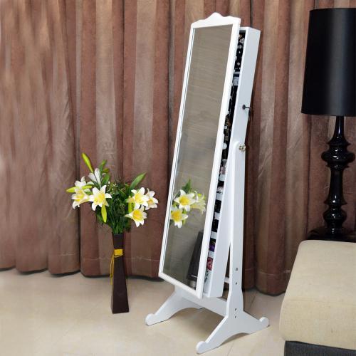 venta al por mayor gabinete de joyera de madera de organizador caja de exhibicin de joyas con espejo de bloqueo para las seoras de la nave
