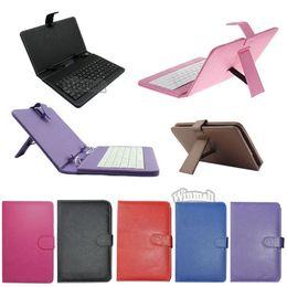 Tablet pc teclado universal online-Teclado universal de 9 pulgadas para estuche de cuero con funda de micro USB para 9 pulgadas A13 T900 A23 A20 Android Tablet PC