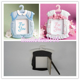 Wholesale Cute Babies Photo Pink - Cute Baby Photo Frame Wedding Favor Baby Shower Theme Resin Picture Frames Gifts Pink Blue