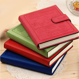 Wholesale Notebook Paper Notepad Book - Color Leather Cover Diary Notebook Korean Stationery Paper Notepad Memopad Book Creative Office Work Note Book Promotion SH587