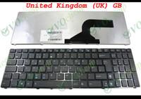 asus çerçeve toptan satış-Yeni Laptop klavye IÇIN Asus G60 K52 U50 UX50 X61 G60J G60V G60JX G60VX Siyah Çerçeve İNGILTERE GB Sürüm ile-MP-09Q36GB-920