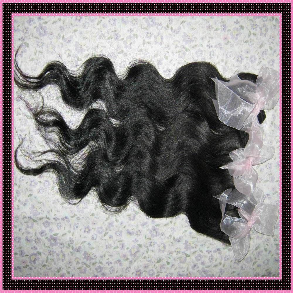 7a billig verarbeitetes menschliches Haar peruanische Körperwelleneinschlagfäden / meistverkaufte DHgate Verkäufer 12