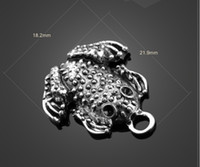 Wholesale Toad Charms - Free shipping 13104 vintga toad charms Necklace earrings Pendants DIY alloy Charms Jewelry Findings & Components