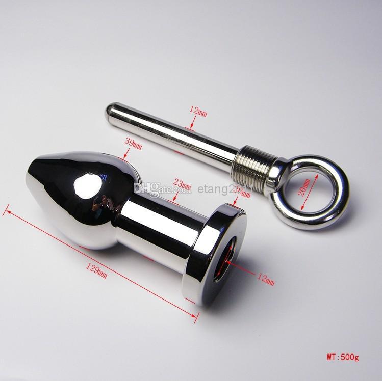 Più nuovo Bdsm di medie dimensioni in acciaio inox anale plug ano plug gioielli in metallo butt plug inserire prodotti del sesso giocattolo