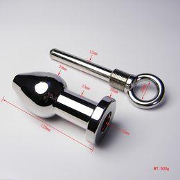 Wholesale Medium Metal Butt Plugs - Newest Bdsm Medium Size Stainless Steel Anal Plug Anus Plug Jewelry Metal Butt Plug Insert Sex Products Toy