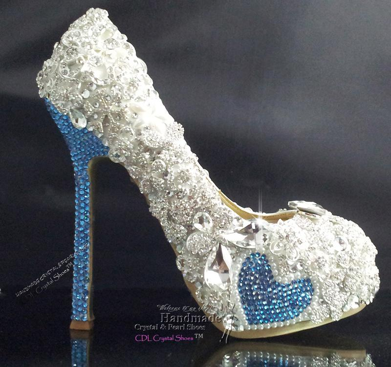 635a4e9b670 Handmade Swarovski Crystal Sky Blue And Rhinestone Bridal Shoes Wedding  Dress Shoes High Heel Pumps Something Blue Party Shoes Shoe Boots Sexy  Shoes From ...