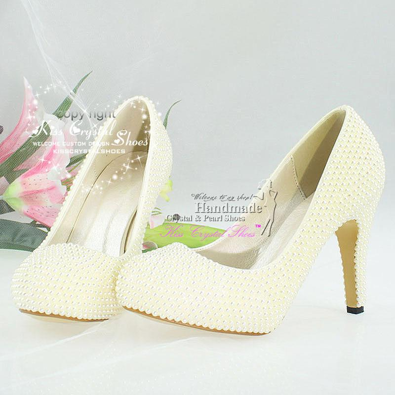 Ivory Wedding Shoes Medium Heel