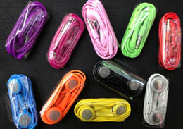 Wholesale Earphones For Iphone4 - 2000pcs Earphone with mic 10 Colors Optional Headphone In-ear Earphone headset for iphone4 for iphone4s vwith MIC