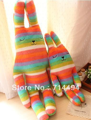 El regalo magnífico de la muchacha de la muñeca de la muñeca de la almohada del conejo de la raya del color de 100cm para el envío libre de la Navidad