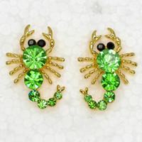 Wholesale Scorpion Stud Earrings - Wholesale Crystal Rhinestone Scorpion Fashion Stud Earrings Jewelry gift A166