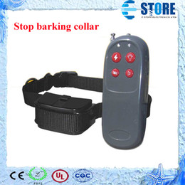 Wholesale Electric Bark Stop Collar - 4 in1 Electric shock+infrared ray+light+word of command dog training device Pet Trainer dog Stop barking collar,wu
