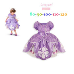 Wholesale Wholesale Fairy Dresses - children toddler princess sofia the first girl flower ball grown dresses kids dress fairy tail cosplay fantasia costume