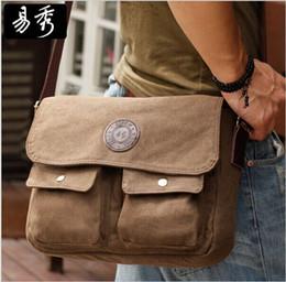 Wholesale Men Canvas Vintage Leather Messenger - Eshow Mens messenger bags for men canvas men shoulder bag vintage crossbody bag for men travel bag+gift free shipping