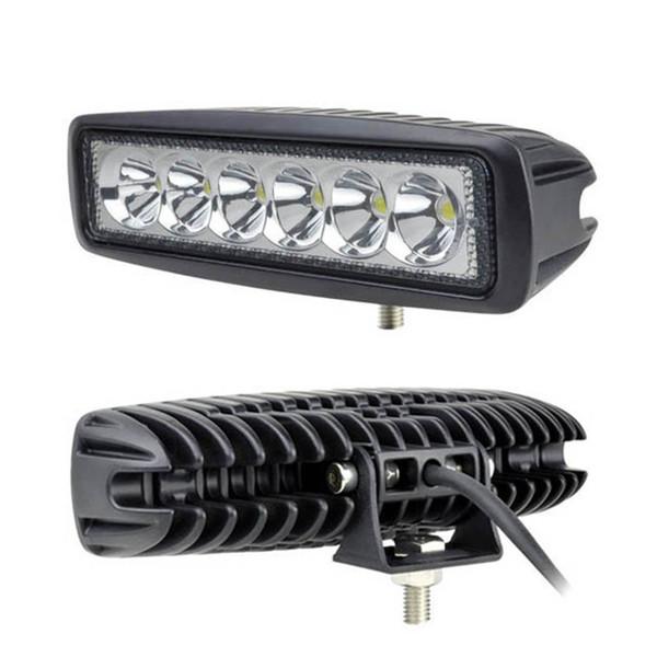 Frete grátis 10 pçs / lote 6 polegadas 18 W Mini Bar LED 12 V 4X4 LED Luzes diurnas de inundação para Offroad 4x4 Caminhão ATV ATV LED Luz de Trabalho