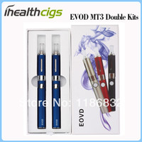 Wholesale Ego Mt3 Kits - E Cigarette EVOD MT3 Kits E Cigs Double kits MT3 Atomizer Clearomizers EVOD Battery eGo Electronic Cigarette Free Shipping