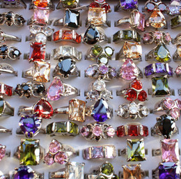 Wholesale Size Animal Ring - New Fashion Boutique Crystal Diamond Ring Popular Lady Rings Jewelry Lots Wholesale Hot Sale Free Shipping