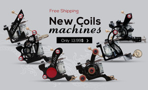 Tattoo Gun Tattoo Machines Zinic Alloy Frames 8 or 10 Coils Tattoo Supply Cast Iron Gun for Liner Shader on Sale