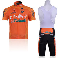 Wholesale Euskaltel Team - Euskaltel Team Cycling Jerseys Full-length Zipper High-stretch Fabric Aero Cut Bicycle Shirt Mens Cycling Costume