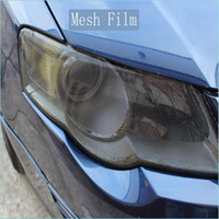 Wholesale Road Stickers - Premium Fly eye tint Perforated Mesh Film Headlight Tints ROAD LEGAL VINYL Window Tint FILM MO like Fly Eye 1.07x50M Roll free shipping