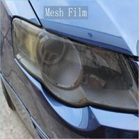 Wholesale roll eyes online - Premium Fly eye tint Perforated Mesh Film Headlight Tints ROAD LEGAL VINYL Window Tint FILM MO like Fly Eye x50M Roll