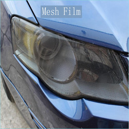 Wholesale Eye Tinting - Premium Fly eye tint Perforated Mesh Film Headlight Tints ROAD LEGAL VINYL Window Tint FILM MO like Fly Eye 1.07x50M Roll free shipping