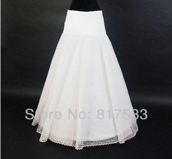 In stock high quality wedding petticoat bridal white macthing a line style elastic waistline 65cm-85cm long floor length